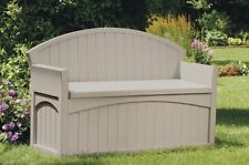Suncast Ultimate 50 Gallon Resin Patio Storage Bench NEW