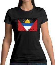 Antigua And Barbuda Flag Womens T-Shirt Caribbean Saint John's Flags Gift