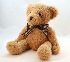 Ashley Teddy Bear By Carte Blanche Classic Seated Plush Toy With Bow 45cm