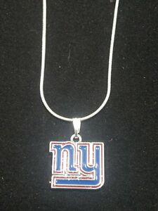 New York Giants Logo Pendant Necklace Sterling Silver Chain NFL Football