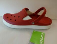 Crocs Size 12 Red Clogs New Mens Sandals Shoes