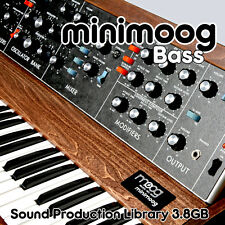 MINIMOOG BASS 3.8GB PERFECT ORIGINAL SAMPLES on DVD