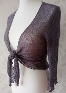 Pretty! Grey, Fine Knit, Summer Cardigan/Wrap/Shrug, Bali Naik, Free/One Size
