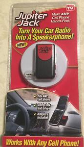 Jupiter Jack Cell Phone Car Speakerphone Converter As Seen on TV New In Pack