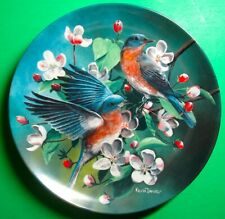 #5 Bluebird Birds Of Your Garden Collection Kevin Daniel Knowles Plate