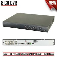 8CH DVR Digital Video Recorder CCTV HD-TVI/AHD/ANALOG/CVI/IP H.265+ 1080p HDMI