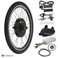 "26"" Electric Bike Rear Wheel Bicycle Conversion Kit 1000W Hub Motor 48V Cycling"