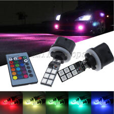 2pcs RGB Multi-Color Wireless 880 890 899 12-SMD LED Decoration For Fog Lights