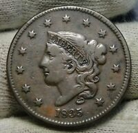 1835 Penny Coronet Large Cent - Nice Coin, Free Shipping  (8468)