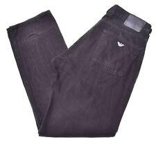 ARMANI JEANS Womens Jeans W34 L34 Black Cotton Straight  HW11