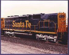 1983 Sante Fe ATSF SD45 Locomotive #5501 - Vintage Color Railroad Photo
