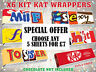 x6 Rude KitKat Chocolate Bar Wrappers Novelty Funny Joke Fathers Day Birthday