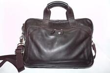 Cole Haan Brown Distressed Leather Business Laptop Bag Attache Tote Briefcase
