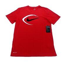 NIKE Football Dri-Fit Short Sleeve T-Shirt sz M Medium Red