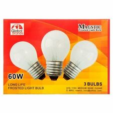 Magstic Frosted Light Bulb 3Pk 60W