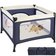 Box per gioco e nanna lettino da viaggio reticolato campeggio bambini bebé blu