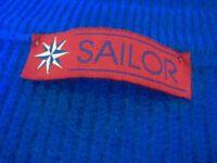 SAILOR • 100% KASCHMIR CASHMERE PULLOVER • XL 44 • SCOTLAND • ROYAL BLAU • DICK!