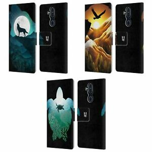 ANIMAL DOUBLE EXPOSURE LEATHER BOOK CASE & WALLPAPER FOR MICROSOFT NOKIA PHONES