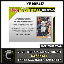 2020 serie béisbol 3 2 Jumbo TOPPS Caja media rotura de Estuche #A1081 - Elige Tu Equipo