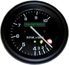 Racetech Shift Light Tachometer Rev Counter 80mm Stepper Motor 0-10Krpm 4/6/8Cyl
