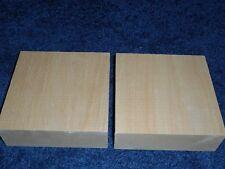 "2 Basswood Lumber Carving Turning Wood Blocks 2"" x 5"" x 5"" ***KILN DRIED***"