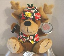 "Coca-Cola 6"" Plush Reindeer Vintage 1998 Christmas Collectible Nwt Style #0168"