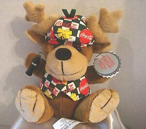 "Coca-Cola 6"" Plush Reindeer Vintage 1998 Christmas Collectible NWT Style #0168"