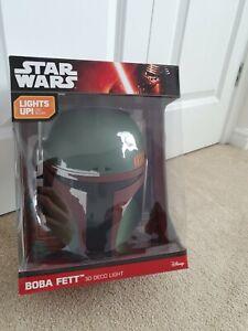 Star Wars Light Boba Fett - Lamp, Wall, Crack, 3D, Deco, LED NEW