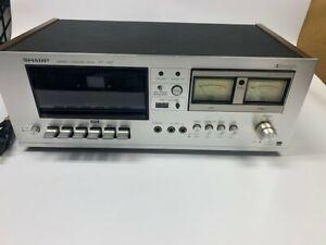 Vintage Sharp Stereo Cassette Deck RT-1157 - powers up