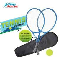 Junior Tennis Set with 2 Rackets |Tennis Ball| Carry Bag Toy Racket Play Set