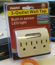 Buy 1 Get 1 Free 3- Outlet Wall Tap With Built in sensor LED light