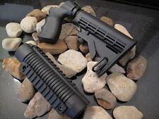 "Fits Mossberg 500 & 500A Shotgun TACTICAL Stock & Forend  6 1/2"" Tube Pic Rail"