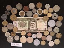 Lot of 50 Middle East World/Foreign Coins & 1 Banknote (Lot Me3)