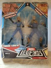 MARVEL LEGENDS CLASSIC COLORS INVISIBLE WOMAN & HUMAN TORCH 2 PACK SEALED