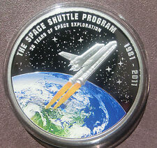 2012 Cook Islands SPACE SHUTTLE Münze! Nur 981 Stück! $1 Dollar