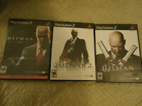 Hitman Trilogy: Blood Money, Silent Assassin 2, Contracts PS2 Complete W/ Manual
