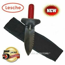 Lesche Digging Tool & Sod Cutter With Left Side Serrated Blade with Free Sheath