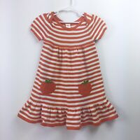 GYMBOREE Girls Pumpkin Sweater Orang White Stripe Dress NWT Sz 5T | PipRose