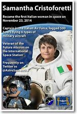 Astronaut Samantha Cristoforetti - First Italian Woman in Space - NEW POSTER