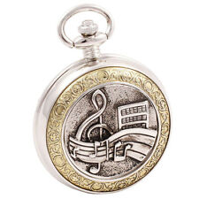Celtic Pocket Watch with Chain Music Symbols Steampunk Cosplay Reloj de Bolsillo