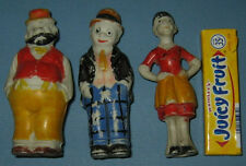 """30'S Moon Mullins, Emmy, Uncle Willie Bisque Figures 3 1/2"""" Hi Free Ship Ad651"""