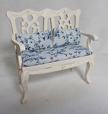 Dolls House Miniature Cream Sofa-chair