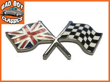 Alterno FLAG / Union Jack Smalto Badge Emblema Auto Classica