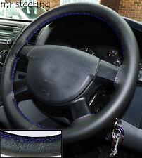 Pour Mitsubishi Eclipse 95-99 VOLANT cuir italien couvre coutures bleu