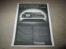 Technics RS-M85 Cassette AD, 1978, Spezifikationen, Artikel, 1 PG