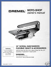 Copy of Owner's Manual for Dremel Moto-Shop Model 571 572 1571