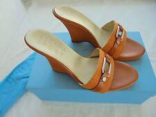 ESCADA Keilabsatz Sandaletten NP: 329€ w NEU OVP Tasche Pumps Schuhe Gr. 38