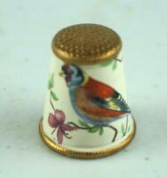 """Vintage England Pewter Hand Painted Thimble Wizard 2.25/"""""""