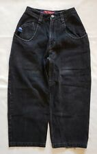 """Vintage JNCO Low Down 20"""" Skater Jeans Black Size 28x32 Style 169 Rare USA Made"""