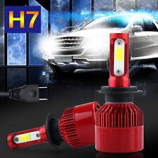 2X H7 LED Headlight 200W 20000LM Hi or Low Kit Bulbs Driving Beam HID COB 6000K